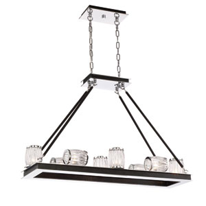 Barile Chrome Eight-Light Chandelier