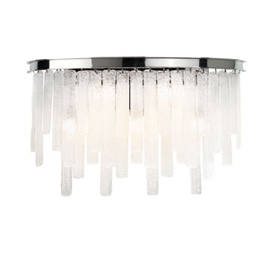 Candice Chrome Five-Light Wall Sconce