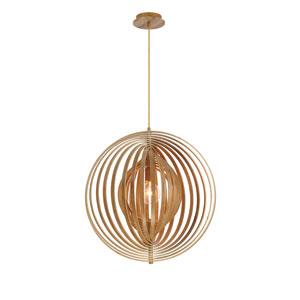 Abruzzo Wood 23-Inch One-Light Pendant