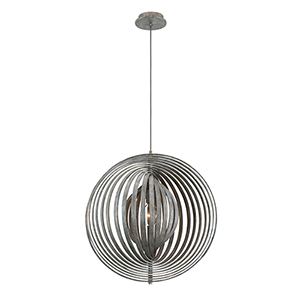 Abruzzo Weathered Grey 23.25-Inch 1-Light Pendant