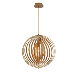Abruzzo Wood 19-Inch One-Light Pendant