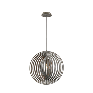 Abruzzo Weathered Grey 19.25-Inch 1-Light Pendant