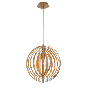 Abruzzo Wood 14-Inch One-Light Pendant