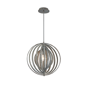 Abruzzo Weathered Grey 17-Inch 1-Light Pendant