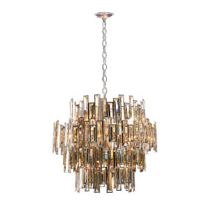 Vienna Chrome 15-Light Chandelier with Champagne Crystal