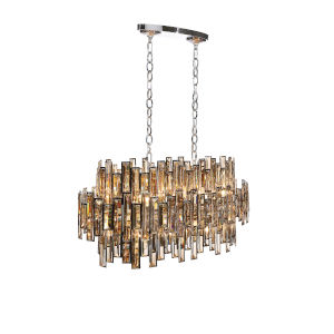 Vienna Chrome 16-Light Chandelier with Champagne Crystal