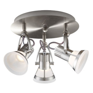 Vortex Satin Nickel Three-Light LED Track Lighting