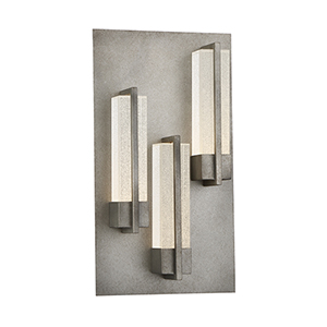 Pari Antique Silver 10-Inch LED Outdoor Wall Sconce