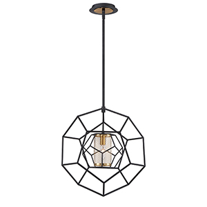 Bettino Black 16.5-Inch 1-Light Pendant