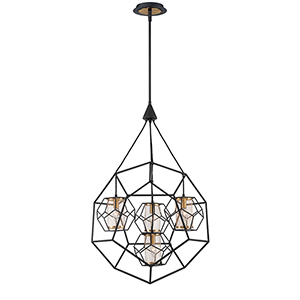 Bettino Black 24.5-Inch 4-Light Chandelier
