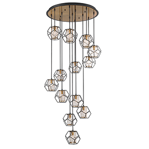 Bettino Black 32.5-Inch 13-Light Chandelier