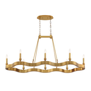 Leyton Antique Brass Eight-Light Chandelier