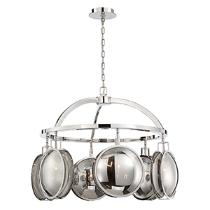 Havendale Polished Nickel 30.25-Inch 6-Light Chandelier