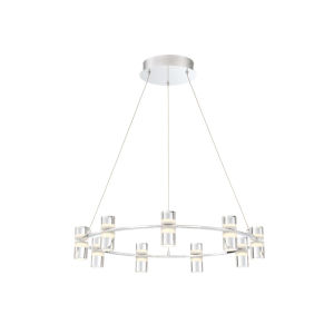 Netto Chrome 24.75-Inch LED Chandelier