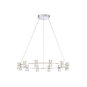 Netto Chrome 32.75-Inch LED Chandelier