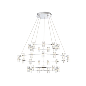 Netto Chrome 40.5-Inch LED Chandelier
