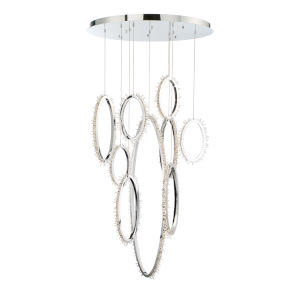 Scoppia Chrome 38-Inch LED Chandelier