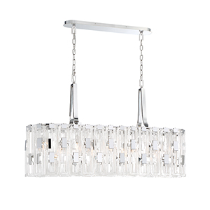 Viviana Chrome 11-Inch 9-Light Chandelier