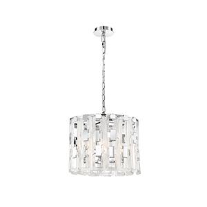 Viviana Chrome 18-Inch 4-Light Chandelier
