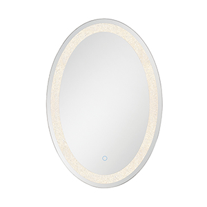 Back-Lit Mirror Chrome 21.75-Inch LED Mirror