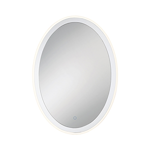 Edge-Lit Mirror Chrome 25.5-Inch LED Mirror