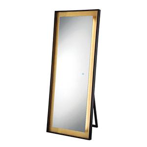 Edge-Lit Mirror Black 26-Inch LED Mirror
