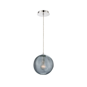 Della Chrome 8-Inch 1-Light Mini Pendant
