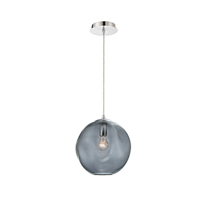 Della Chrome 11-Inch 1-Light Pendant