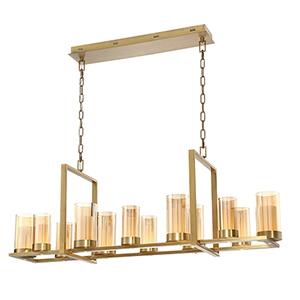 Londra Brass 13-Inch LED Chandelier