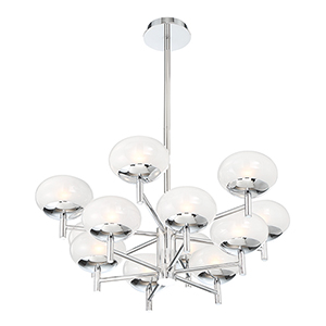 Burlington Chrome 27.5-Inch 12-Light Chandelier