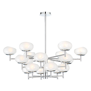 Burlington Chrome 37.5-Inch 18-Light Chandelier