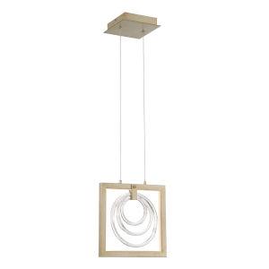 Corinna Antique Silver 1.25-Inch LED Mini Pendant