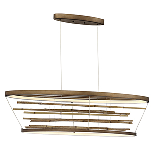 Bobina Bronze 12.75-Inch LED Chandelier