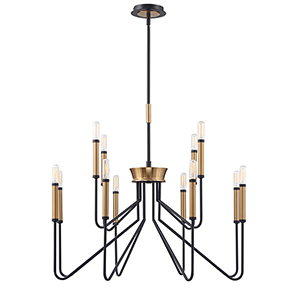 Rado Black 20.25-Inch 12-Light Chandelier
