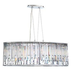 Genova Chrome 19.5-Inch 8-Light Chandelier