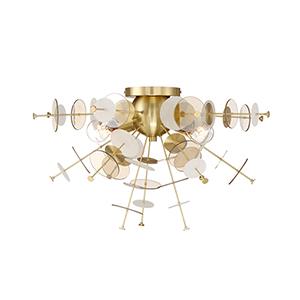 Bonazzi Brass 24-Inch 4-Light Flushmount