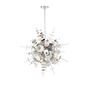 Bonazzi Chrome 29-Inch 9-Light Chandelier