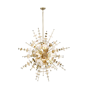 Bonazzi Brass 48.5-Inch 12-Light Chandelier