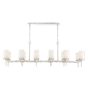 Manchester Satin Nickel 16-Inch 12-Light Chandelier