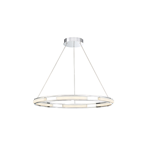 Fanton Chrome 32.5-Inch LED Chandelier