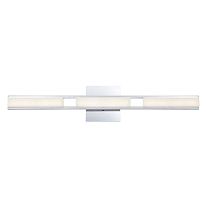Fanton Chrome 30-Inch LED Wall Sconce