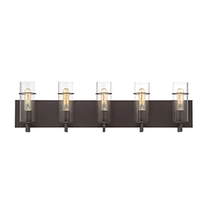 Pista Bronze 33.75-Inch 5-Light Bath Vanity