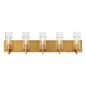 Pista Gold 34-Inch Five-Light Bath Vanity