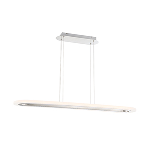 Distesa Satin Nickel 8.75-Inch LED Linear Pendant