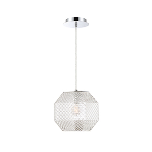 Catalda Clear 9-Inch 1-Light Pendant