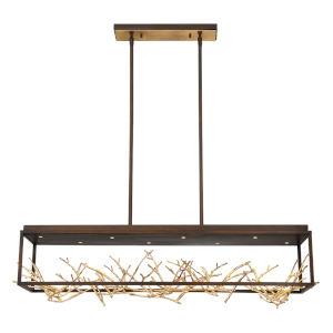 Aerie Bronze Eight-Light LED Chandelier