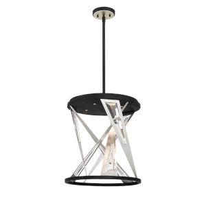 Sarise Black Four-Light LED Chandelier
