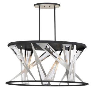 Sarise Black 14-Inch Seven-Light LED Chandelier, Title,24
