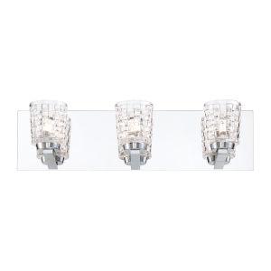 Banbury Chrome Three-Light LED Vanity Bar