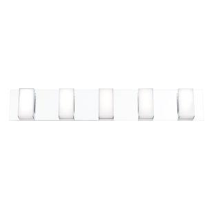 Delrosa Chrome Five-Light LED Vanity Bar